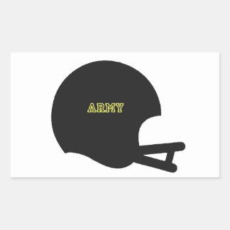 Army Black Knights Vintage Football Helmet Logo Rectangular Sticker