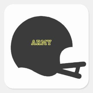 Army Black Knights Vintage Football Helmet Logo Square Sticker