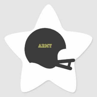 Army Black Knights Vintage Football Helmet Logo Star Sticker