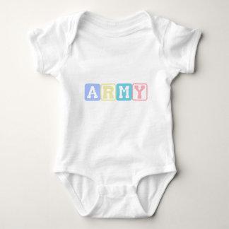 Army Blocks Baby Bodysuit