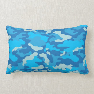 Army Blue Camo Camouflage #2 Pillow Pillows