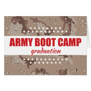 Army Boot Camp Graduation Congratulations w/ Stars Card