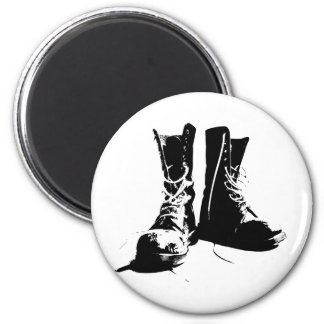Army Boots 2 Inch Round Magnet