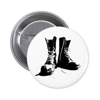 Army Boots 2 Inch Round Button