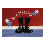 "Army Boots Send-Off Party 5"" X 7"" Invitation Card"