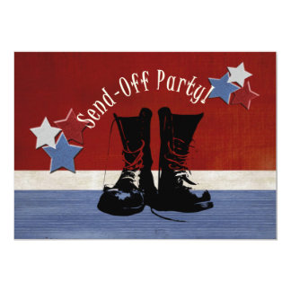 Army Boots Send-Off Party Personalized Invite