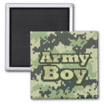Army Boy 2 Inch Square Magnet