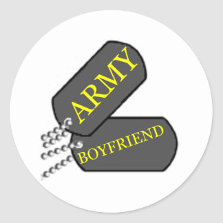 Army Boyfriend 2 Classic Round Sticker