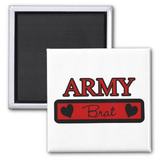 Army Brat 2 Inch Square Magnet