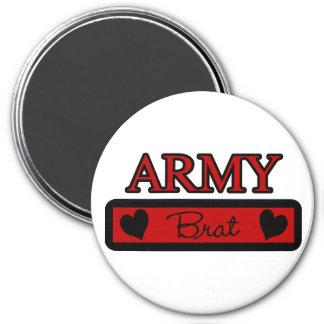 Army Brat 3 Inch Round Magnet