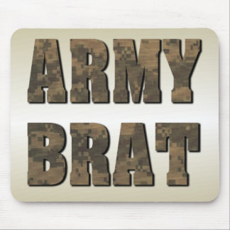 Army Brat in Military Camouflage Mouse Pad