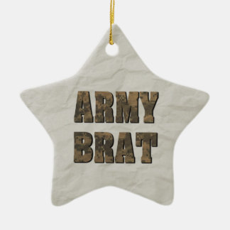 Army Brat Military Customized Personal Photo Ceramic Ornament