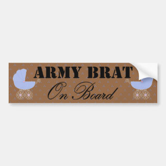 Army Brat On Board Blue Buggy Bumper Stickers