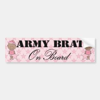 Army Brat On Board Girl (Dark Skin) Bumper Sticker