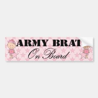 Army Brat On Board Girl (Light Skin) Car Bumper Sticker