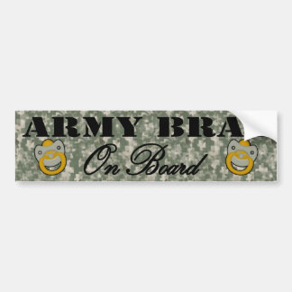 Army Brat On Board (Window Sticker) Bumper Sticker