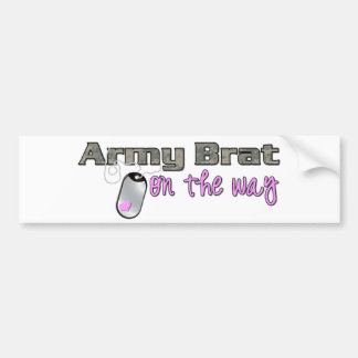Army Brat on the way pink Bumper Stickers
