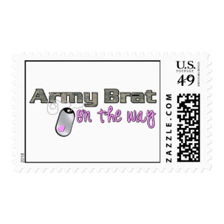 Army Brat on the way pink Postage Stamp