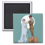 Army Bride 2 Inch Square Magnet