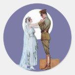 Army Bride Classic Round Sticker