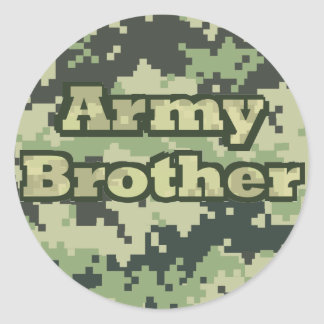 Army Brother Classic Round Sticker