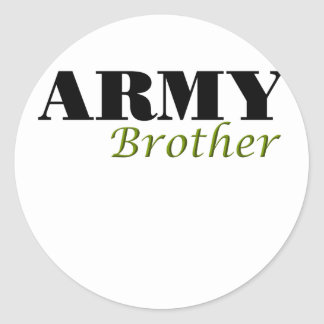 Army Brother (cursive) Classic Round Sticker