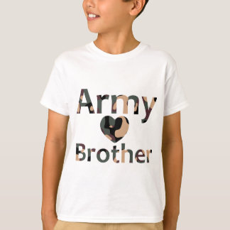 Army Brother Heart Camo T-Shirt