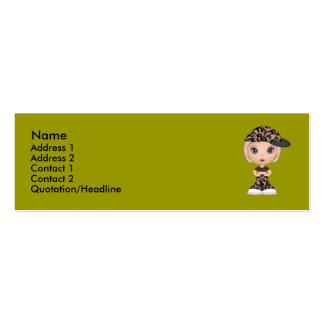 Army Buddy Double-Sided Mini Business Cards (Pack Of 20)