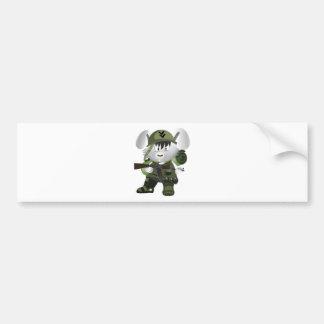 Army Bunny Bumper Sticker