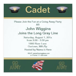 Army Cadet Going Away Party Card