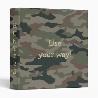 Army Camo ~ Avery Binder 1 EZD Touch