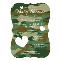 Camo baby shower invitations announcements zazzle filmwisefo Gallery