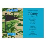 Army Camo Birthday 5x7 Paper Invitation Card