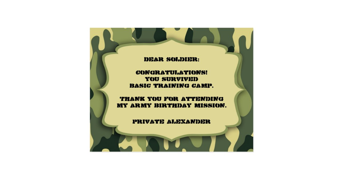 Army Thank You Cards Craft