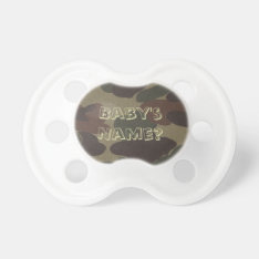 Army Camo Booginhead Baby Pacifier at Zazzle