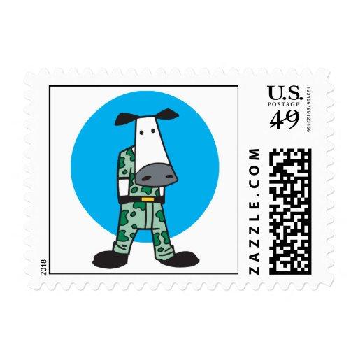 Army Camo Cow Postage