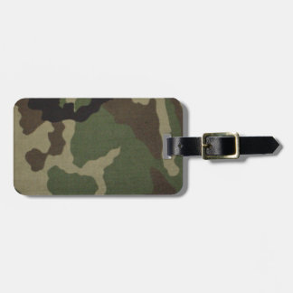 Army Camo Luggage Tag
