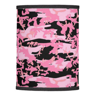 Army, Camo, Military Pattern - Pink Black Lamp Shade