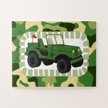 Army Camo Military Vehicle Jigsaw Puzzle