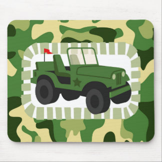 Army Camo Military Vehicle Mouse Pad