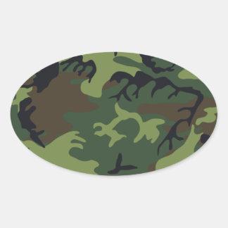 Army Camo Oval Sticker