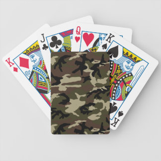 army camo pattern camouflage military bicycle playing cards