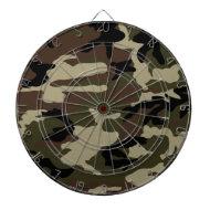army camo pattern camouflage print military dartboard with darts