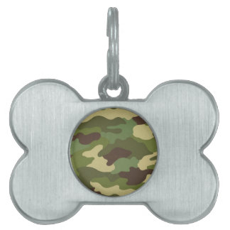 Army Camo Pet ID Tags
