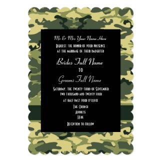 Army Camo Redneck Wedding Card