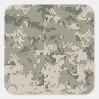 Army Camo Square Sticker