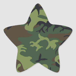 Army Camo Star Sticker