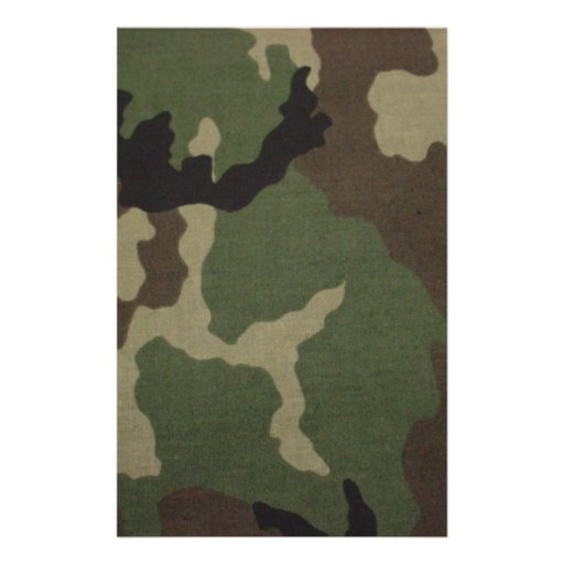 Army Camo Stationery Paper