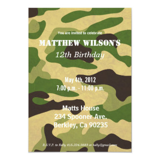 Army Camoflauge Card
