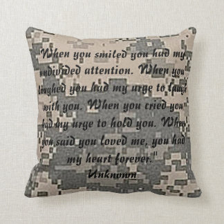 Army Camouflage Acu Destiny Peace Love Throw Pillow